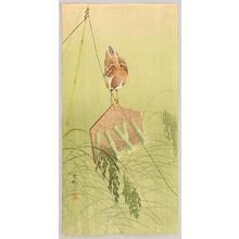 小原古邨: Sparrow on Scarecrow - Artelino