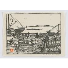 笠松紫浪: Scene at Tsukuda - Artelino