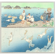 Ito Nisaburo: Abalone Divers - 2 Sets of Triptich Postcards - Artelino