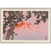 川瀬巴水: Mt. Fuji from Tagonoura - Artelino