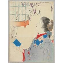 Kaburagi Kiyokata: Talking to Parrot - Artelino