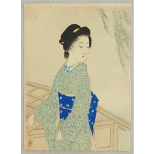 Suzuki Kason: Beauty and Willow Tree - Artelino