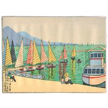 Fujishima Takeji: Hamaotsu Yacht Harbor - Artelino