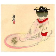 Shibata Zeshin: Sitting Lady - Artelino