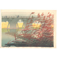 Kasamatsu Shiro: Late Fall at Imai Bridge - Artelino