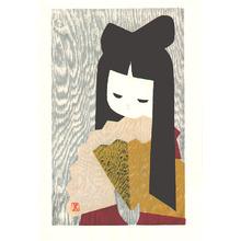 Kawano Kaoru: Girl with Fan - Artelino