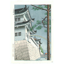 Fujishima Takeji: Drizzling Rain at Nijyo Castle (Later Printing) - Artelino