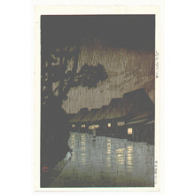 川瀬巴水: Rainy Night at Maekawa - Artelino