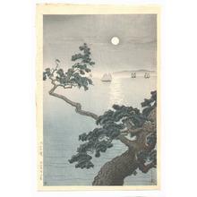 Tsuchiya Koitsu: Full Moon at Akashi Beach - Artelino