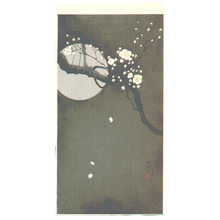 Ohara Koson: Plum Blossoms at Night - Artelino