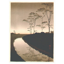Koho: Canal by the Moonlight (Sepia) - Artelino