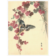 Imao Keinen: Bird and Purple Leaves - Artelino