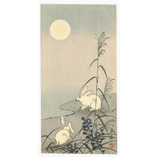Imao Keinen: Two Rabbits in the Moonlight - Artelino