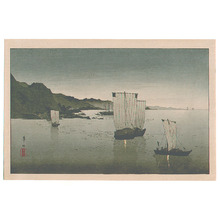 Suzuki Kason: Boats in the Harbor - Artelino