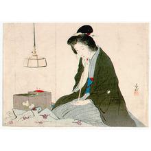 Kaburagi Kiyokata: Seamstress (Kuchi-e) - Artelino