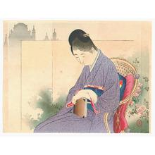 Mizuno Toshikata: Relaxing (Kuchi-e) - Artelino