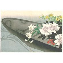 神坂雪佳: Flower Boat - Momoyo Gusa - Artelino