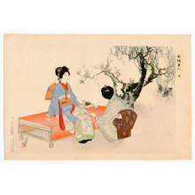 Mizuno Toshikata: Looking at Plum Blossoms - Imayo Bijin - Artelino