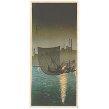 Takahashi Hiroaki: Fishing Boat at Tsukudajima (Muller Collection) - Artelino