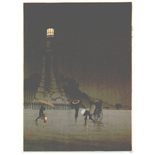 Kobayashi Kiyochika: Rainy Day at Kudan (Muller Collection) - Artelino
