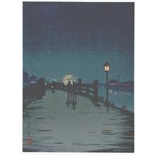 小林清親: Crossing a Country Bridge (Muller Collection) - Artelino