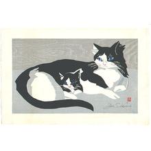 Sekino Junichiro: Cat and Kitten - Artelino