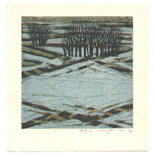 北岡文雄: Snowy Landscape - Yukigeshiki B - Artelino