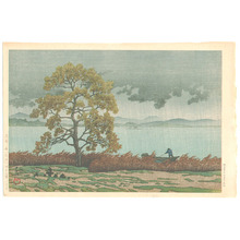 Kawase Hasui: Lakeside Shower - Kohan no Ame (First Edition) - Artelino