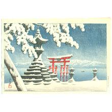 Kawase Hasui: Snow at Itsukushima (First Edition ) - Artelino