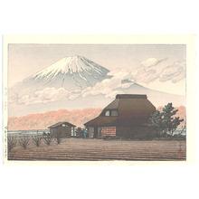 川瀬巴水: Mt. Fuji Seen from Narusawa - Artelino