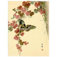 Imao Keinen: Bird and Purple Leaves (Muller Collection) - Artelino