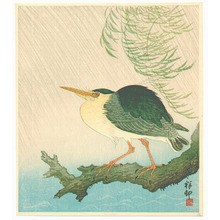 Ohara Koson: Heron in the Storm (Muller Collection) - Artelino