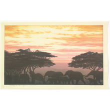 吉田遠志: Evening in East Africa (Limited Edition) - Artelino
