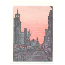 Yoshida Toshi: Morning of New Year's Day in Ginza - Artelino
