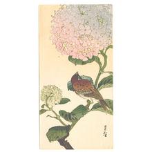 Yoshimoto Gesso: Sparrow and Hydrangea (Muller Collection) - Artelino