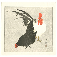 Takahashi Biho: Rooster and Hen (Muller Collection) - Artelino