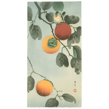 Watanabe Seitei: Bird on a Persimmon Tree (Muller Collection) - Artelino