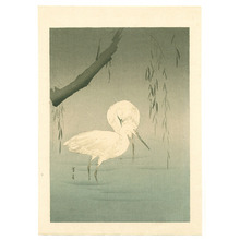 Watanabe Seitei: Two Egrets by a Willow Tree (Muller Collection) - Artelino