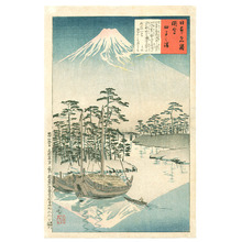 Kobayashi Kiyochika: Mt. Fuji from Tagonoura (Muller Collection) - Artelino