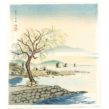 徳力富吉郎: Yabase in Early Spring - Artelino