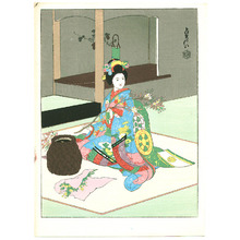 代長谷川貞信〈3〉: Maiko Arranging Flowers - Artelino