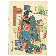 Utagawa Yoshitaki: Kocho - Imayo Genji - Artelino