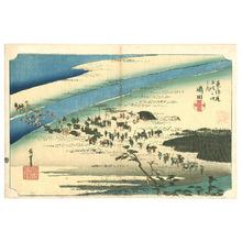 歌川広重: Shimada - Tokaido Gojusan Tsugi no Uchi (Hoeido) - Artelino