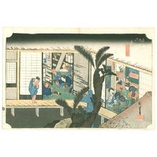 歌川広重: Akasaka - Tokaido Gojusan Tsugi no Uchi (Hoeido) - Artelino