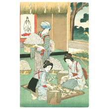 Toyohara Chikanobu: Silk Worm Farm - Artelino
