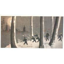 小林清親: Battle of Newchang in Snow (Muller Collection) - Artelino