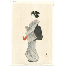 Yukawa Shodo: Lady with a bag - kinko fuzoku One Hundred Bijin - Artelino