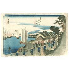 歌川広重: Shinagawa - Tokaido Gojusan Tsugi no Uchi (Hoeido) - Artelino