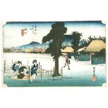 Utagawa Hiroshige: Minakuchi - Tokaido Gojusan Tsugi no Uchi (Hoeido) - Artelino