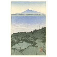 Kawase Hasui: Mt. Fuji Seen from Village (postcard size - Muller Collection) - Artelino